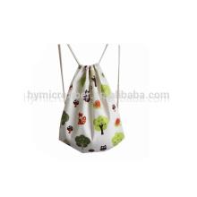 Производство холст мешки drawstring с изготовленным на заказ логосом для ходить по магазинам