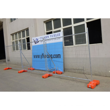Clôture temporaire de l'Australie galvanisée / Clôture temporaire galvanisée à chaud et sécurité Clôture temporaire pour le marché canadien