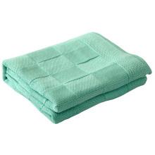 100 % coton tricoté doux Baby Blanket