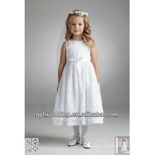 2016 Lovely Cute Hot-Selling Flower Girl Dress Com Flores Pintadas Hand Stiched