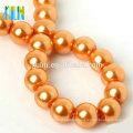 Großhandels3-16mm runde orange Perlenhalskette Glaskorne XULIN Charme-Glasperlen-Halsketten-Art- und Weiseschmucksache-Perlen-Korne