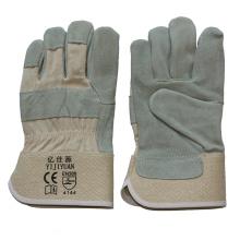 Full Palm Industrial Safety Rindsleder geteilte Leder Arbeitshandschuhe