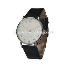 Arab index dial simple design leather strap unisex watches