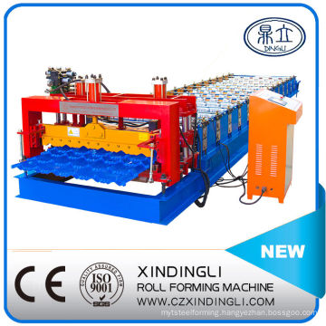 Hydraulic High Quality Glazed Tile Roofing Sheet Roll Forming Machinery