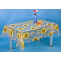 PVC Transparent and Embossed Tablecloth (TJ3D0005B)