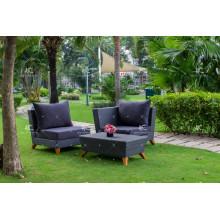 Neue neueste Design synthetischen PE Rattan Outdoor-Möbel Wohnzimmer Sofa-Set