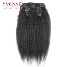Kinky Straight Clip in Human Hair Extensions