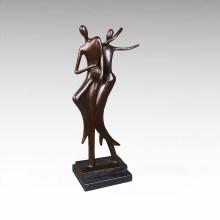 Escultura de bronce de Dancr de los amantes de la estatua del extracto Tpy-049