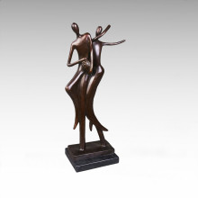 Abstract Statue Lovers Dancr Bronze Sculpture Tpy-049