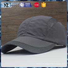 Maille personnalisée en polyester / maille métallique boucle simple chapeaux de sport