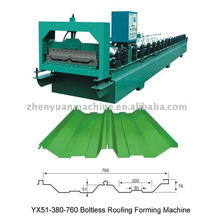YX760 connect joint hidden style roof sheet roll forming machine and other panel making machinery of top quality!