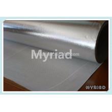 Isolation en fibre de verre avec film en aluminium, matériau de toiture réfléchissante et en argent Laminage en aluminium feuilleté