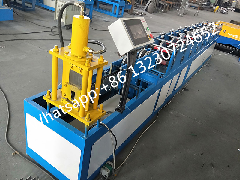 steel rolling door guide rail machine