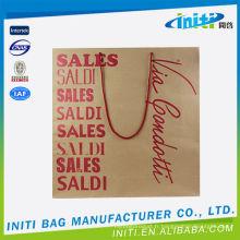 Sacs de papier shopping 2015 eco-friendly