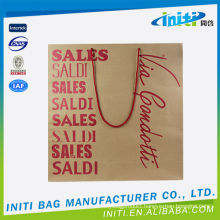 2015 eco friendly white/brown shopping paper bags