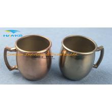 Mini caneca de café em aço inoxidável com identificador 2016