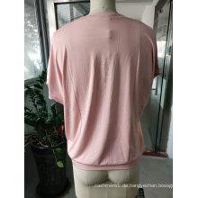 Neueste Sommermode Rosa Schöne Blume T-Shirt Kleidung