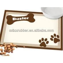 Mesinhas de comida para cães com imagem de impressão