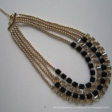 4 строки моды костюм ожерелье для женщин