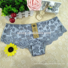 861 Womens lace boyshort panties Floral lace cheeky shortie