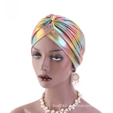 Shinning polyester hair headband bandanas turban hat