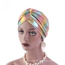 Shinning polyester hair headband bandanas turban hat