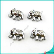 Charmes de glissière d'éléphant animaux argent mignon pour Bracelet (SC16041904)