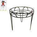 Décoration de jardin en métal Single Chair Flowerpot Stand Craft