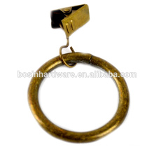 Fashion High Quality Metal Antique Brass Curtain Clip Ring