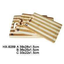 Luxury Bamboo Stripe Chopping Block Set With Handle