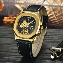 Golden case automatic fashion watch for men