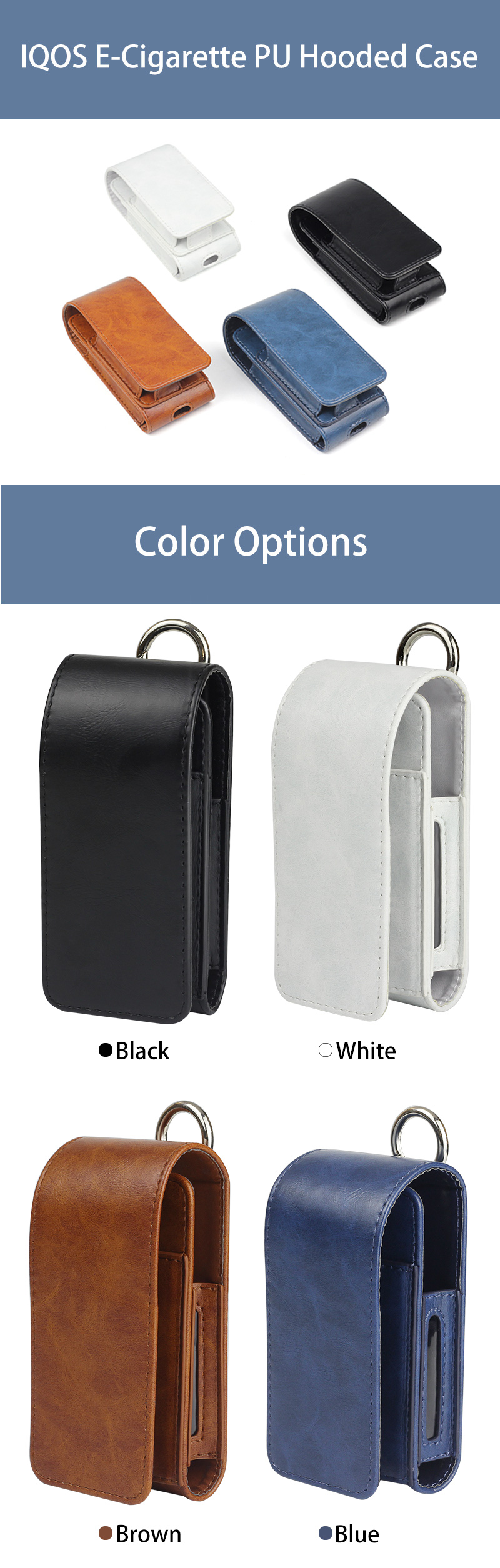 IQOS Waist Hanging Oiled PU Case