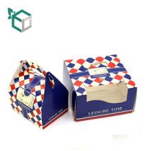 Le matériel de catégorie comestible imprimé par coutume emporte la boîte à gâteau d'emballage de papier d'anniversaire