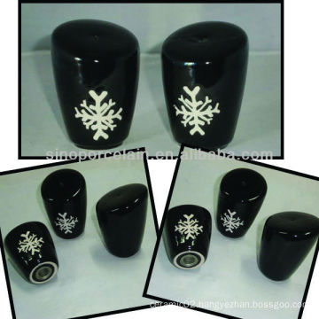 New ceramic salt shaker with xmas artwork for BS12056D