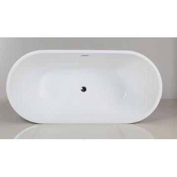 Bañera de pie ovalada de borde delgado