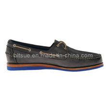 Italian Style Men Breathe Freely Leather Boat Shoes Made in China