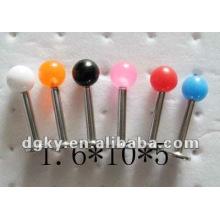 1.6mm Edelstahl Bar Lippe piercing Schraubgewinde Acryl Perlen Labret