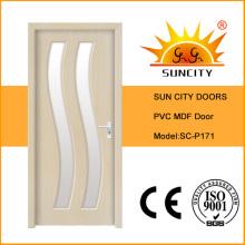Chine Nouvelle conception de porte en verre de PVC MDF de toilette (SC-P171)