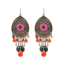 Fashion Vintage Ethnic Boho Resin Alloy Earring for Lady