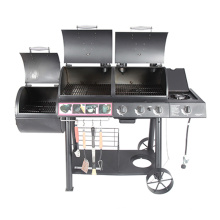 Multifunktion 2 in 1 Gas Holzkohle BBQ Raucher mit Ce CSA