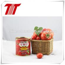Pasta de tomate enlatada orgánica y saludable 400 G con marca OEM