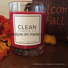 Искусства ароматические свечи в стеклянную банку