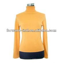 100% cashmere women's sweater, 100% cashmere turtle neck pull