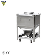200l conical bottom stainless steel ibc tote tank bin container 1000 1200 1500 liter