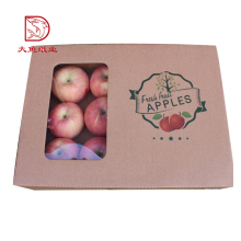 Beautiful design dragon fruit packaging paper box with clear window