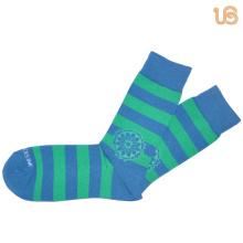 Chaussettes en coton à rayures de couleur claire pour hommes