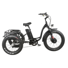 """20""""/24"""" Electric Tricycle 48V500-750ww Front Hub Motor Disk Brake Fat Tire Electric Trike"""