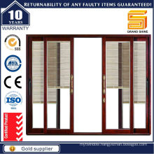 7150 Series Double Glazing Aluminum Sliding Doors with Mobile Blind