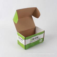 Boîte ondulée pliante automatique de taille faite sur commande d'expédition avec l'impression colorée