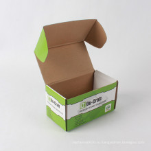 Коробка Автоматическая Складывая Плоский Доставка На Заказ Размер Рифленые С Цветастым Печатанием